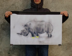 Image of CHARITY //rhino poster