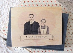 Image of Downton Abbey- My Heart Bates Only For You Postcard
