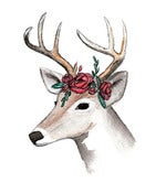 Image of floral deer