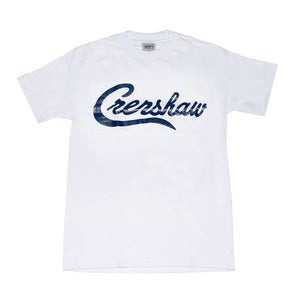 Image of Crenshaw T-Shirt (White/Navy)