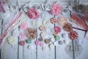 Image of 10 Count Pink Shabby Chic Headband Kit - Baby Shower
