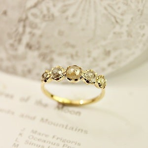 Image of 18ct gold, opaque diamond multi-stone  ring {No.61}
