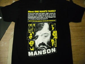 Image of MANSON Family (1973) Documentary cover T-shirt
