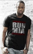 Image of Mens Black RUN MIA Tee