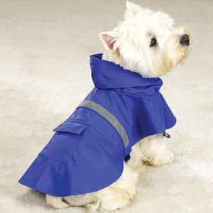 Image of Rain Jacket with Reflective Strip - Blue & Pink