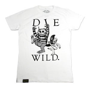 Image of Die Wild - white tee