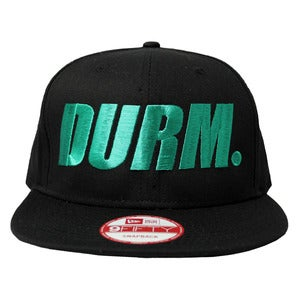 Image of DURM hat - turquoise on black