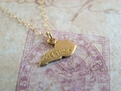 Image of Golden State Charm Necklace, with 14K GF chain