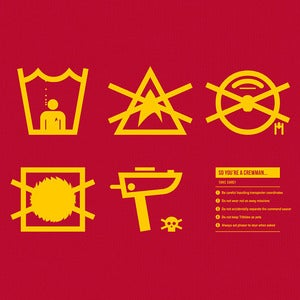 Image of Care Instructions: Crewman - Red tee