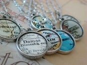 Image of Vintage Map Necklace