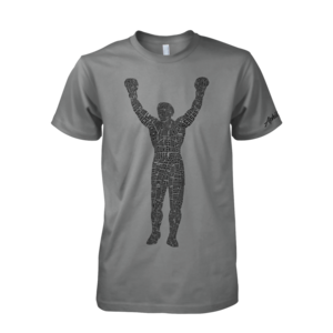 Image of Rocky Statue Tee (Grey/Black)