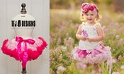 Image of Soft Pink &amp; Hot Pink Pettiskirt - Newborn to 12 Months - Full of Ruffles