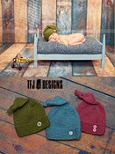 Image of Knot on Top Sleeping Cap - Newborn Knitted Hat - THREE Color Choices
