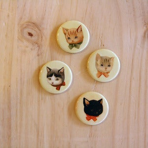 Image of Set of 4 Cat Magnets by The Black Apple