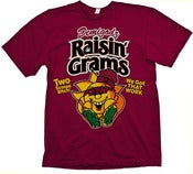 Image of Raisin Grams T-Shirt - Garnet Maroon Red