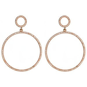 "Image of "" New "" Kara Ackerman <i> Talulah <i/>  Faceted Stone Circle Drop Earrings in Rose"