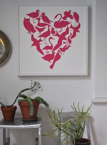 Image of Aviary Heart Print