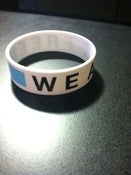 "Image of ""We Are Free"" Wristband"