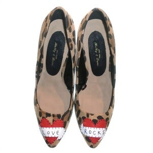 Image of SALE! 'Love Rocks' Leopard Stilettoes