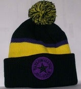 Image of Taylor Gang All Star Purple/Yellow Wiz Khalifa Beanie Knit Hat Cap w/ Pom