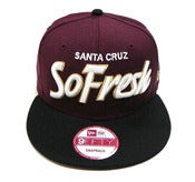 "Image of SO FRESH CLOTHING ""HOOD OL DAYS"" NEW ERA SNAPBACK (BURG/BLACK)"