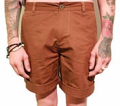 Image of Mens Brown Chino Shorts