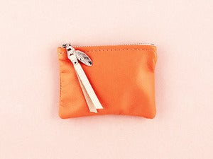 Image of MONEDERO COIN PURSE - TANGERINE