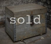 Image of coffre au bois gris beton / wooden chest gray beton