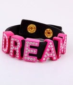 Image of HOT PINK /BLACK DREAM BRACELET