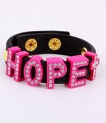 Image of HOT PINK & BLACK HOPE BRACELET