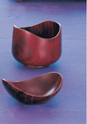 Image of Rosewood curved lip bowl