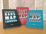 Image of All three London maps: Cocktail Bars, Craft Beer and Speciality Coffee