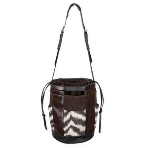 Image of Joanie Bucket - brown/black/zebra