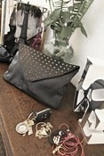 Image of Gunmetal Navigli Clutch