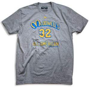 Image of McDowells All-American Tee | grey heather