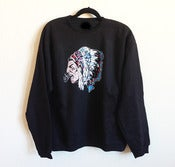 Image of American Warrior Black Crew Neck Sweater 