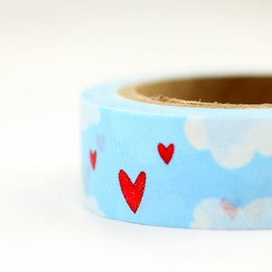 Image of Heart in the Clouds Washi Tape