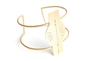 Image of Namib Brass Statement Cuff 1C13