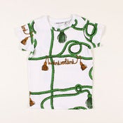 Image of MINI RODINI rope s/s tee, green