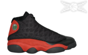 Image of Air Jordan 13 Black And Red 2013