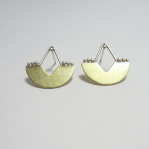 Image of Beaded Moon Studs
