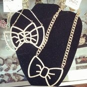Image of Rhinestone Bow Set 