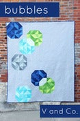 Image of bubbles quilt pattern-PAPER PATTERN