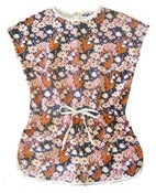 Image of Flower and Fish Print Jumpsuit