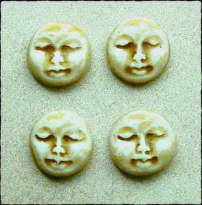 Image of Set of Four Small Round Face Stones