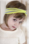 Image of neon yellow and grey striped turban