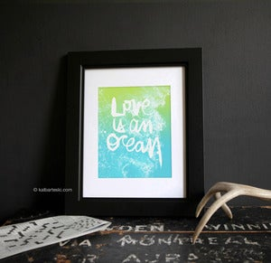 Image of LOVE is an OCEAN print