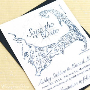 Image of Cape Cod Save the Date - Navy