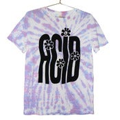 Image of Stretched Out Acid Rave T-shirt | Black on Tie Dye