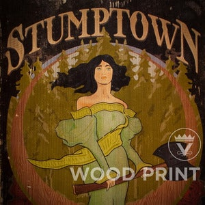 Image of Stumptown - Wood Print